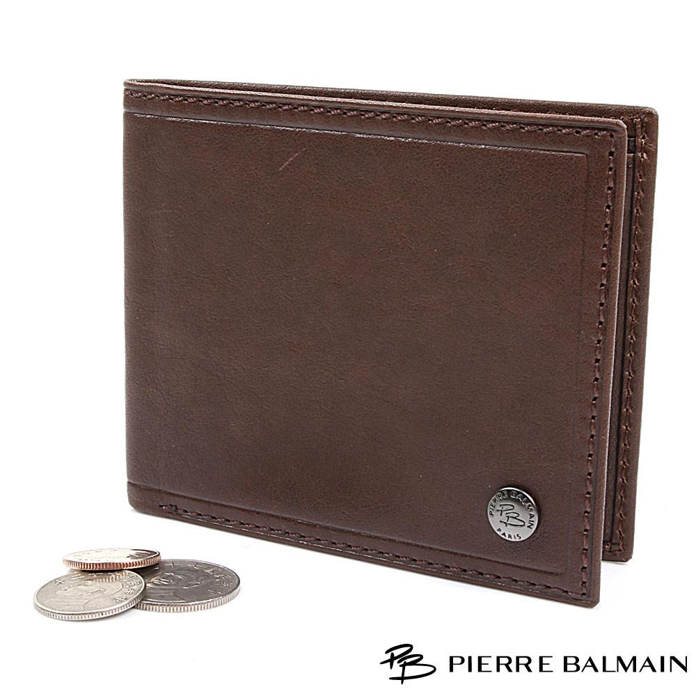 【PB皮爾帕門】植物染植鞣牛皮短夾-咖啡色(Vegetable Tanned Leather Wallet)