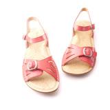 【Kimo德國手工氣墊鞋】寬版釦環平底涼鞋(亮彩紅D2415SF001027)