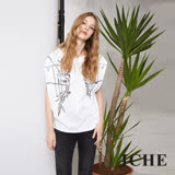 ICHE 衣哲 時尚線條幾何不規則造型上衣
