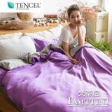 【梵蒂尼Famttini-經典紫情】撞色單人被套床包組-採用天絲™萊賽爾纖維