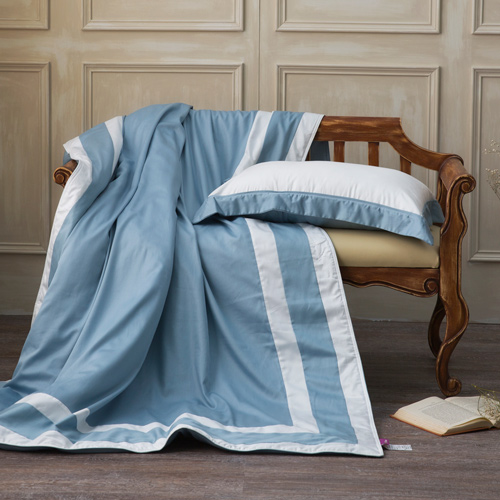 IN HOUSE-SLEEPING BEAUTY-膠原蛋白紗-涼被(藍色-150x195)單人