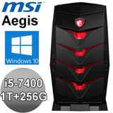 MSI Aegis 3【怒海特工】7RB-030TW 桌上型電競電腦 (i5-7400/8G/GTX1050/1T/256G/WIN10)