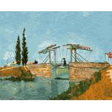 ArtLife藝術生活【DT014】梵谷 阿爾的吊橋 DIY 數字 油畫 彩繪 40*50cm