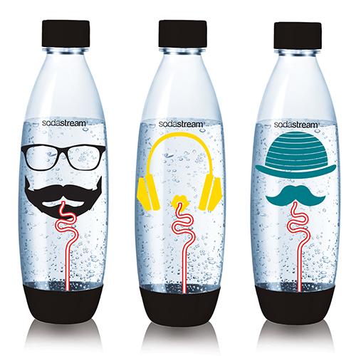 Sodastream 嬉皮士水滴寶特瓶1L-三入