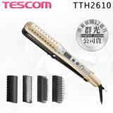 【註冊送TID450吹風機】TESCOM TTH2610TW TTH2610 負離子 乾溼兩用 國際電壓 6合1造型髮夾 整髮器 整髮梳 公司貨 保固一年