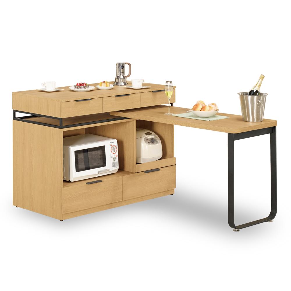 HAPPYHOME 達拉斯4尺中島型多功能餐桌櫃C7-913-1三色可選-免運費