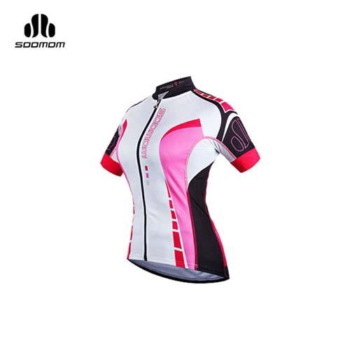 (女) SOOMOM 塞拉短車衣 -單車 自行車 越野 速盟 黑莓紅白