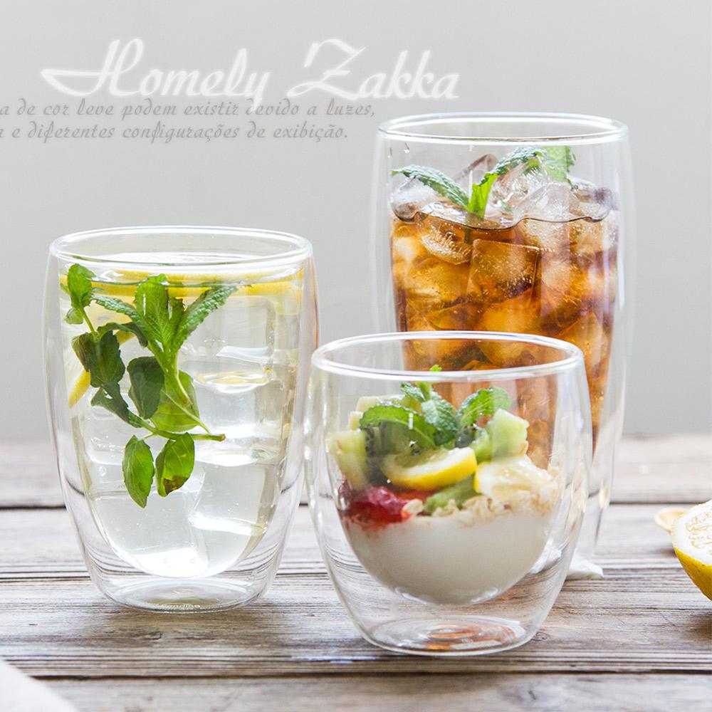 Homely Zakka 附蓋雙層玻璃杯