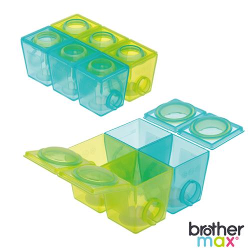 英國 Brother Max 副食品分裝盒(小號6盒+大號4盒)-3入組