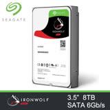 Seagate 希捷 那嘶狼 8TB 7200轉 256M 3.5吋 SATA3 NAS 網路儲存專用硬碟 (三年保) / ST8000VN0022 8T