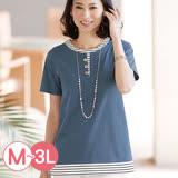 日本Portcros 預購-假兩件造型短袖上衣(共六色/M-3L)