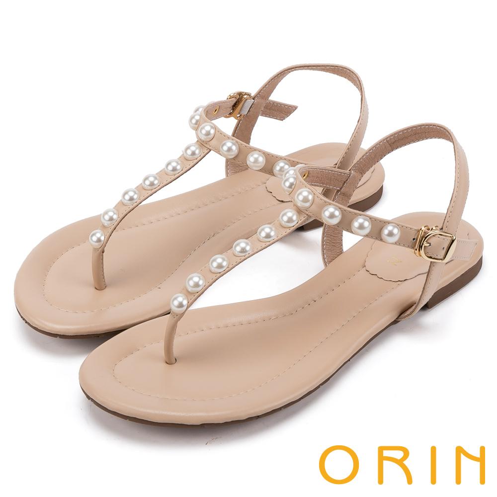 ORIN T字牛皮夾腳涼鞋