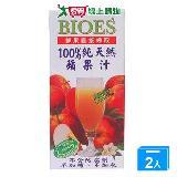 囍瑞BIOES100%純天然蔓越莓綜合果汁200ml*6  入【愛買】