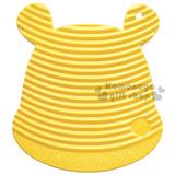 〔小禮堂〕迪士尼 小熊維尼 日製矽膠造型洗衣板《S.黃.大臉.蜜蜂》附吸盤