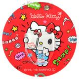 〔小禮堂〕Hello Kitty 日製貼式掛勾《圓型.紅.自拍.手繪風》耐重1.5公斤