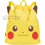 〔小禮堂〕神奇寶貝Pokemon 皮卡丘 束口保冷後背包《黃.大臉.立體耳朵》可提