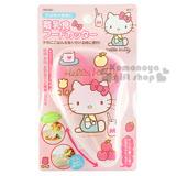 〔小禮堂嬰幼館〕Hello Kitty 嬰兒食物剪刀《粉.透明.坐姿.蘋果》附收納盒