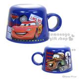 〔小禮堂〕迪士尼 CARS閃電麥坤 寶特瓶專用杯蓋《藍.脫線.星星.140ml》
