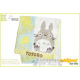 〔小禮堂〕宮崎駿 Totoro 龍貓 毛巾布收納袋《綠.坐姿.葉子》日本丸真系列
