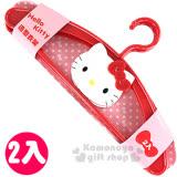 〔小禮堂〕Hello Kitty 造型三角衣架《2入.紅.大臉》實用又可點綴室內