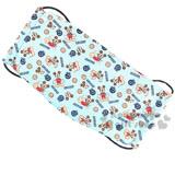 〔小禮堂〕迪士尼 米奇 成人平面口罩《藍.多動作.滿版》透氣棉材質
