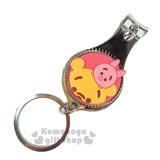 〔小禮堂〕迪士尼 Tsum Tsum 小熊維尼 指甲剪《小.紅黃.小豬.附鑰匙圈》方便隨身攜帶