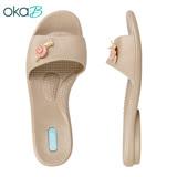 【OkaB】IVY可愛蝸牛一字拖鞋 金色(K8238-GO)