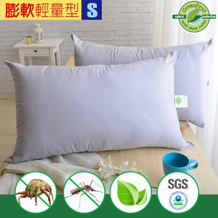 天然防蹣 竹炭枕-輕量型(2入)