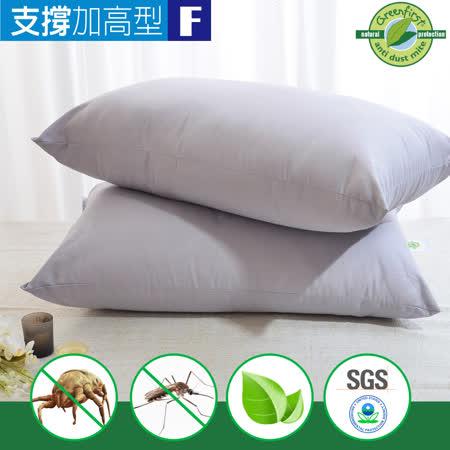 天然防蹣 竹炭枕-加高型(2入)