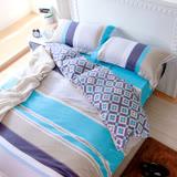 鴻宇HongYew 《托曼斯》純棉 雙人加大床包枕套組