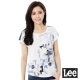 Lee 拼接短袖101+-女-白