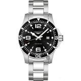 LONGINES 浪琴 征服者300米潛水錶-黑x銀/44mm L38404566