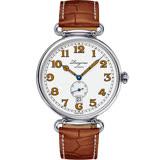 LONGINES浪琴 Heritage 1918 復刻小秒針機械錶-白x咖啡/41mm L28094232