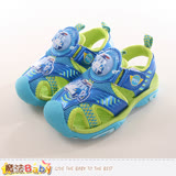 魔法Baby 男童鞋 POLI波力正版護趾閃燈運動涼鞋 sa71116