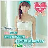 【Osun】歐美風莫代爾前交叉綁帶小可愛上衣(黑/白3066/CE-176)