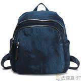 【法國盒子】單寧話題率性百搭實用後背包(藍色單寧)8083+2424(購物袋)