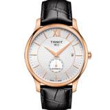 TISSOT 天梭 TRADITION 38小時動力儲存時尚男性皮帶機械腕錶/40mm/T0634283603800