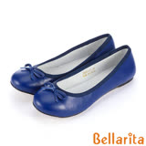Bellarita.芭蕾女伶羊皮平底娃娃鞋-藍3320-51