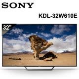 【SONY】32型HD高畫質液晶電視 (KDL-32W610E)-12/31前加贈幸運無限光學滑鼠AMX-700N、HDMI