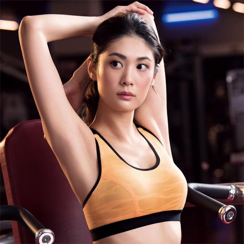 【華歌爾】TRAINING 系列五星有氧 C-E 罩杯運動胸罩 (能量橘)