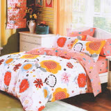【ALICE】愛利斯 MIT雲絲絨薄被套床包組 雙人 花語椿妝《台灣製造》