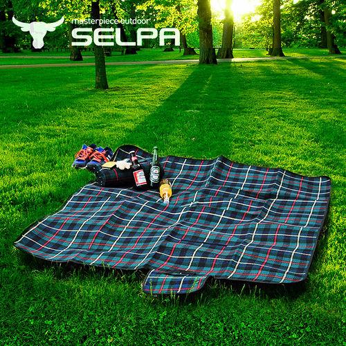 【韓國SELPA】戶外防水處理絨毛野餐墊/寶寶爬行墊/地墊/地布/大型(二入組)