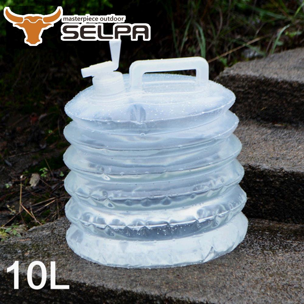 【韓國SELPA】手提式戶外多功能折疊水桶/水箱/儲水(5公升兩入組)