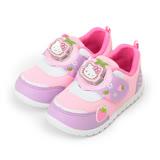 (中小童) HELLO KITTY 草莓電燈運動鞋 紫粉 童鞋 鞋全家福