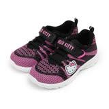 (中大童) HELLO KITTY 針織黏帶運動鞋 黑 童鞋 鞋全家福