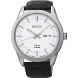 SEIKO 精工 紳士太陽能時尚手錶-銀/44mm V158-0AS0W(SNE359P2)