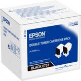 EPSON S050751 原廠黑色碳粉匣雙包裝