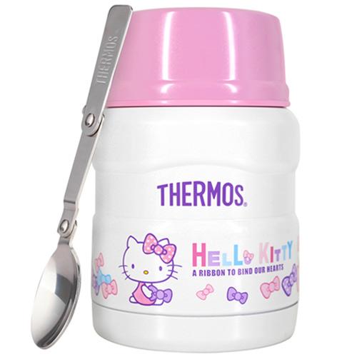 THERMOS膳魔師 Hello Kitty不鏽鋼真空食物燜燒罐/食物罐470ml-蝴蝶結篇【SK3000KT】