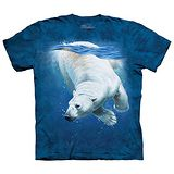 【摩達客】(預購) 美國進口The Mountain 潛水北極熊 純棉環保短袖T恤