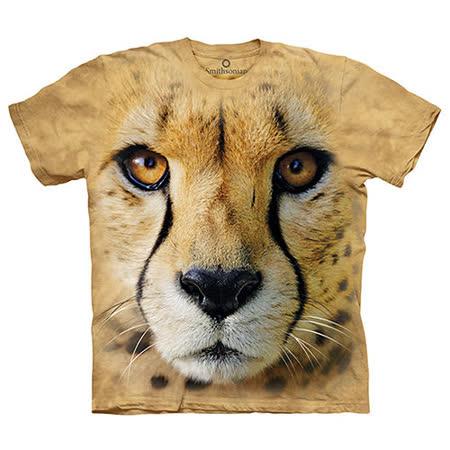 【摩達客】(預購) 美國進口The Mountain Smithsonian系列獵豹特寫 純棉環保短袖T恤 -friDay購物